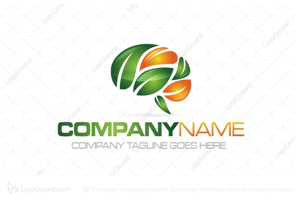 Logo for sale: Leaf Brain Logo
