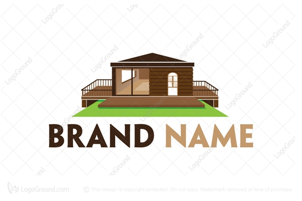 Mobile estate logo for Modern house logo