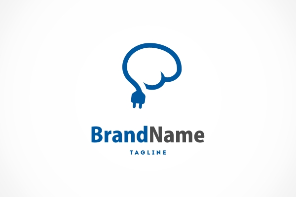 Logo for sale: Brain Wire Logo