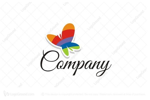 Rainbow butterfly logo - photo#3