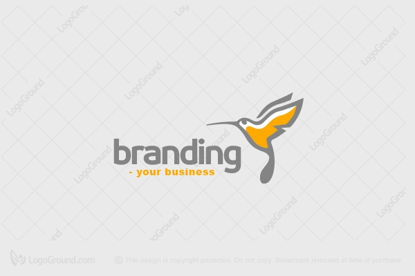 Logo for sale: Humming Bird Logo