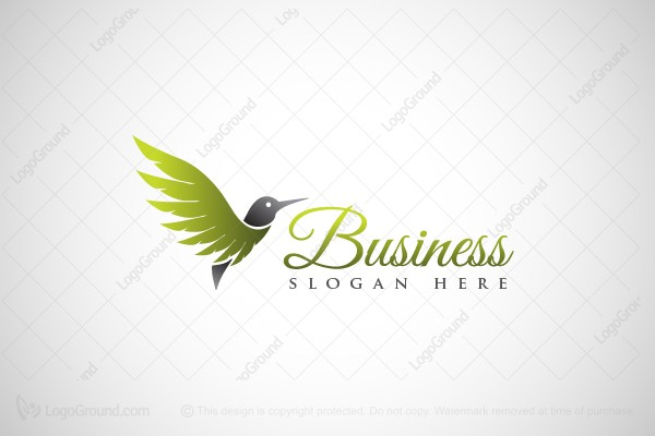 Logo for sale: Beautiful Hummingbird Logo