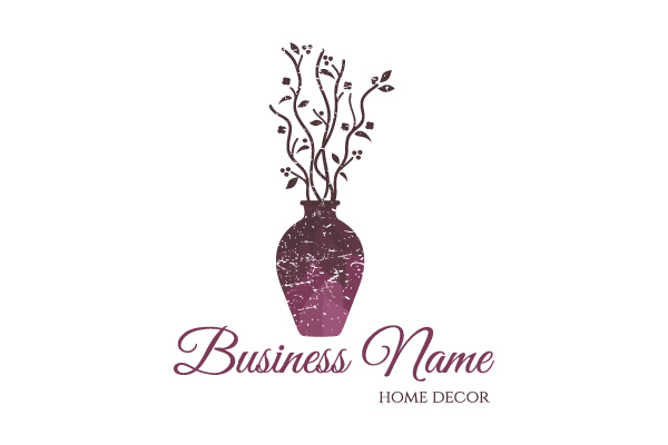 Vase home decor logo for Home interiors logo