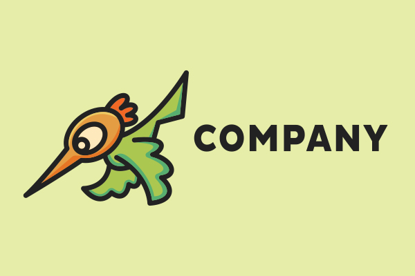 Logo for sale: Little Hummingbird Mascot Cartoon Logo