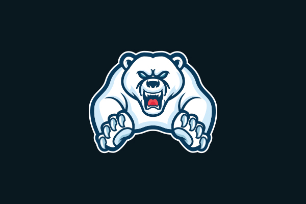 Logo for sale: Polar Bear Mascot Logo