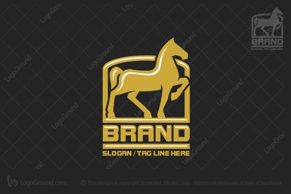 Reining Horse Equestrian Logo