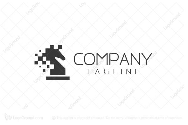 horse chess piece logo