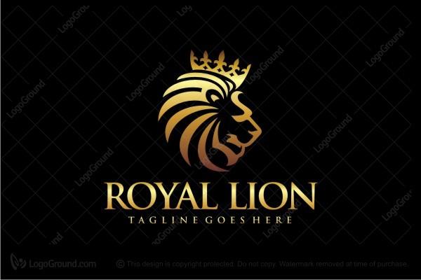 royal lion logo shield