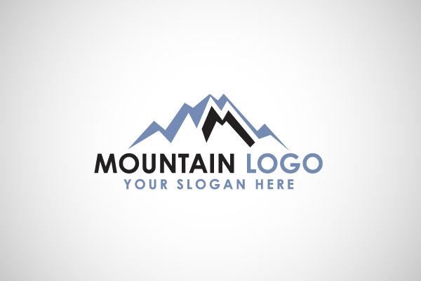M Logo Images Mountain With L...