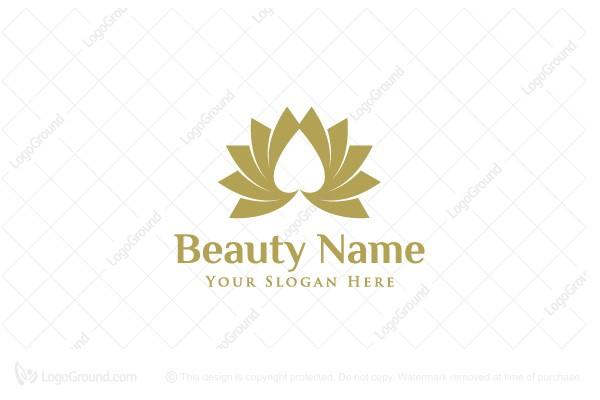 luxury lotus heart logo beauty salon logo for cards beauty salon logo for cards