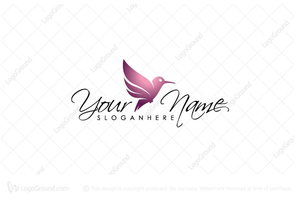 Logo for sale: Pink Hummingbird Logo