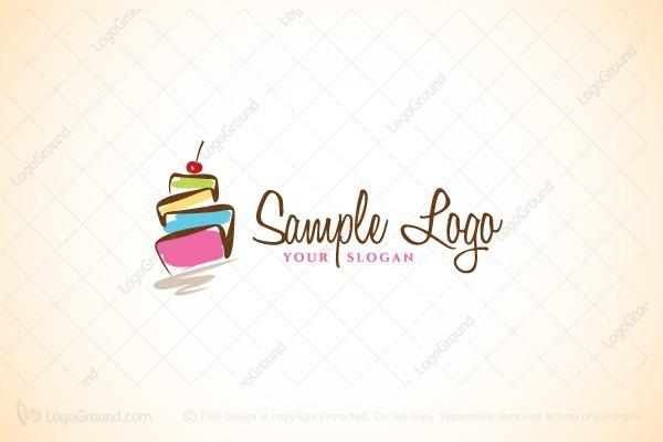 fun cake logo Logo Design print shop logo design