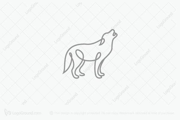 Logo for sale: Wolf Line Logo