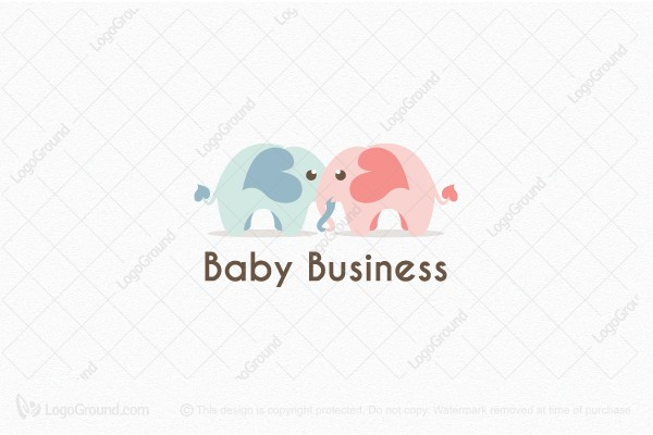 Logo for sale: Elephant Brother and Sister Logo