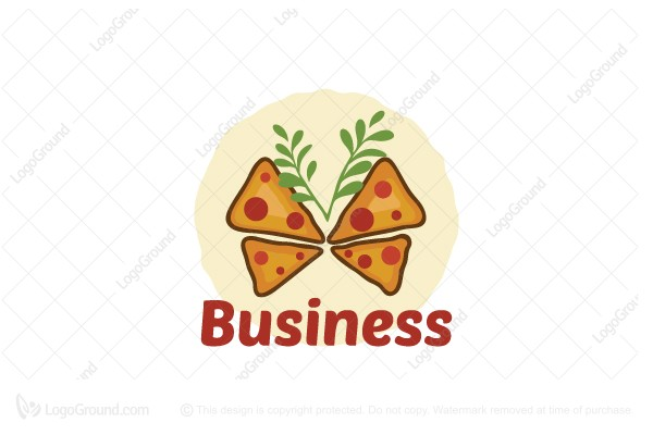 Buy Logos > Logo for Sale: Butterfly Pizza Logo by dalia
