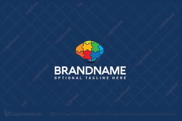 Logo for sale: Mind Puzzle Logo