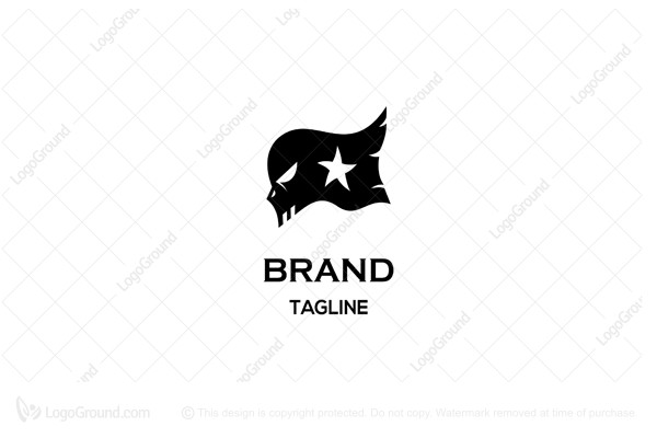 Logo for sale: Black Flag Skull Logo