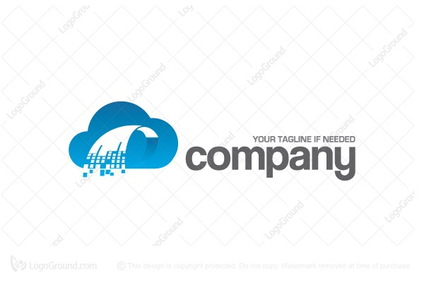Logo for sale: Cloud Storage Logo