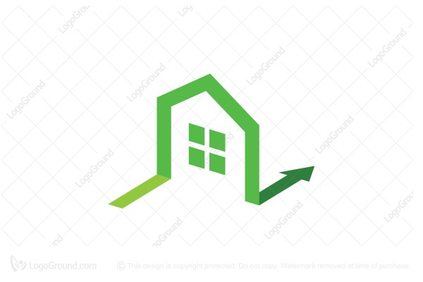 Simple distinctive house logo for Minimalist house logo
