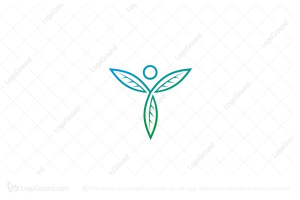 Logo for sale: Human Leaf Logo