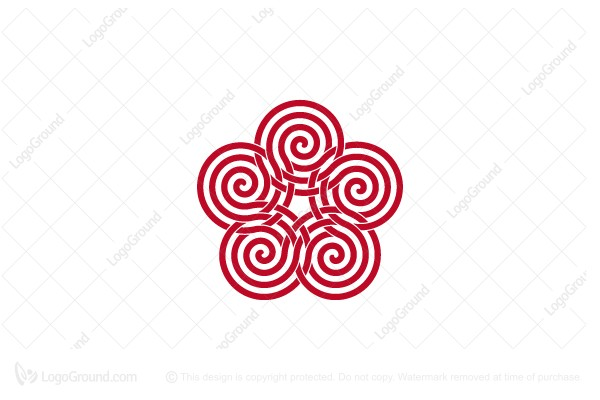 Logo for sale: Abstract Spirals Logo