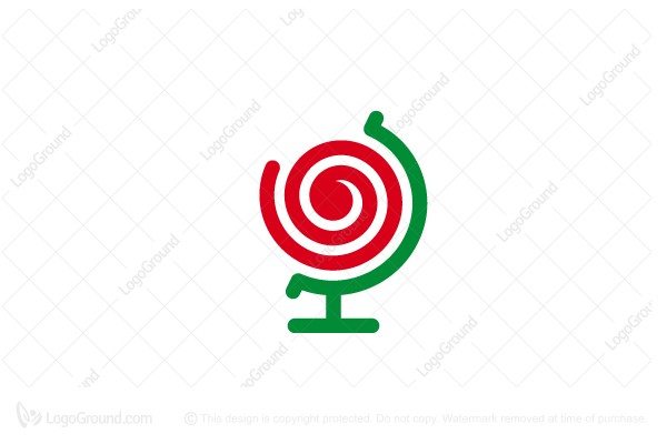Logo for sale: Rose Globe Logo