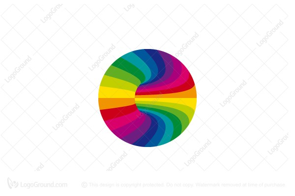 Logo for sale: Rainbow Tunnel Logo