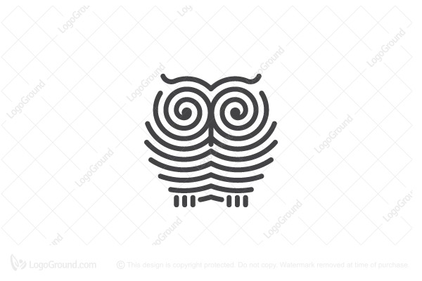 Logo for sale: Spiral Owl Logo
