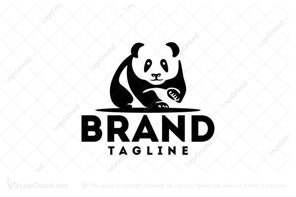 Head Panda Logos for Sale