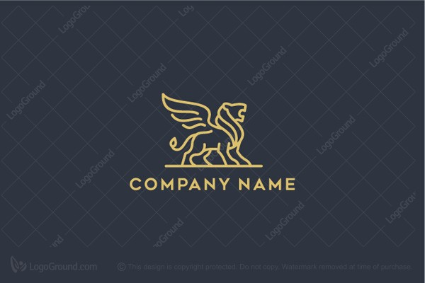 Logo for sale: Winged Lion Logo