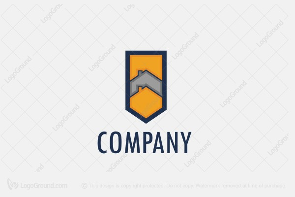 Logo for sale: Gold Shield Construction Logo