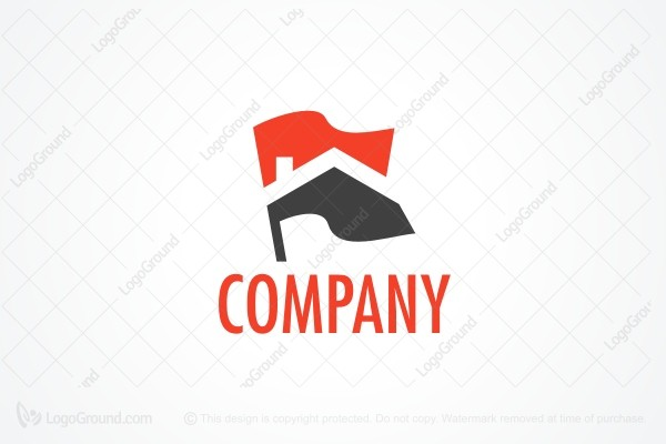 Logo for sale: Flags Construction Logo
