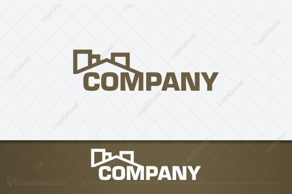 Logo for sale: Brown House Construction Logo