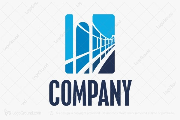 Logo for sale: Blue Bridge  Logo