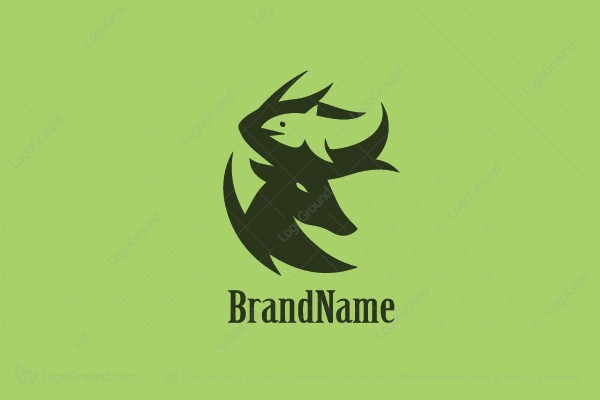 Logo for sale: Fish And Deer Logo