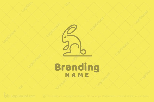 Logo for sale: Cute Rabbit Logo