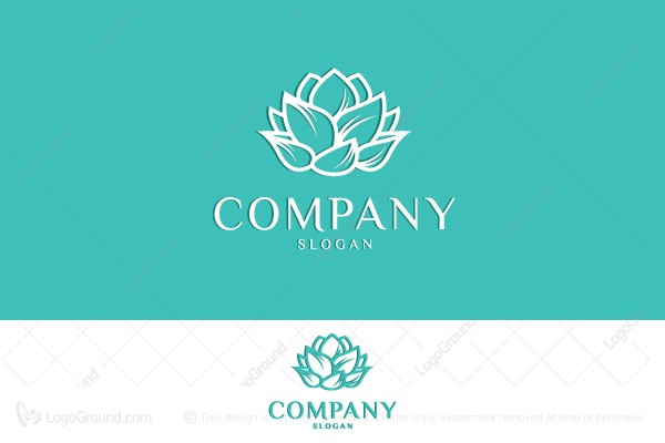 luxury lotus heart logo