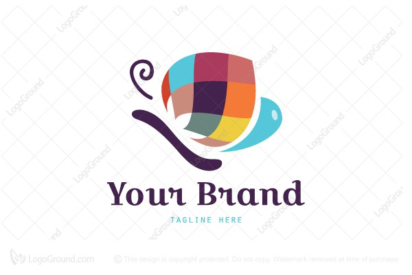 Logo for sale: Free Paint Butterfly Logo
