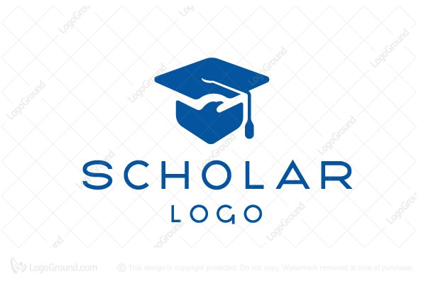 Logo for sale: Flight School Graduation Cap Logo