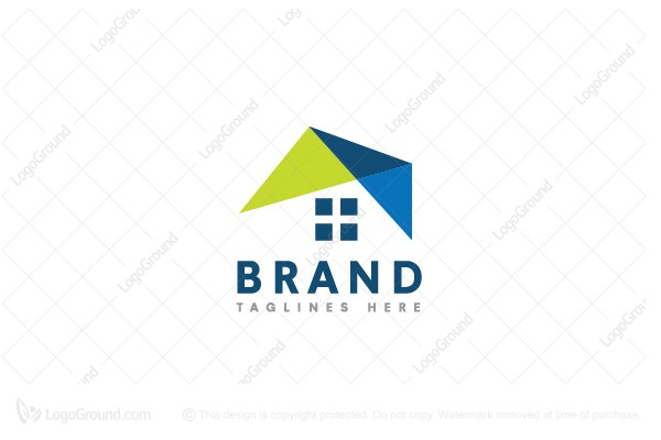 Logo for sale: Abstract Roofing House Logo