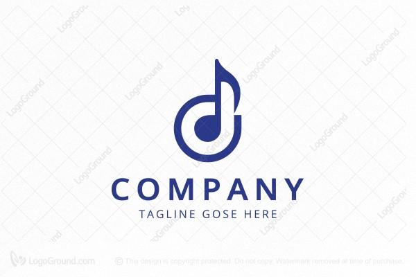Music Note - Letter D Logo