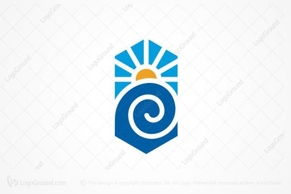 Wave Spiral Logo