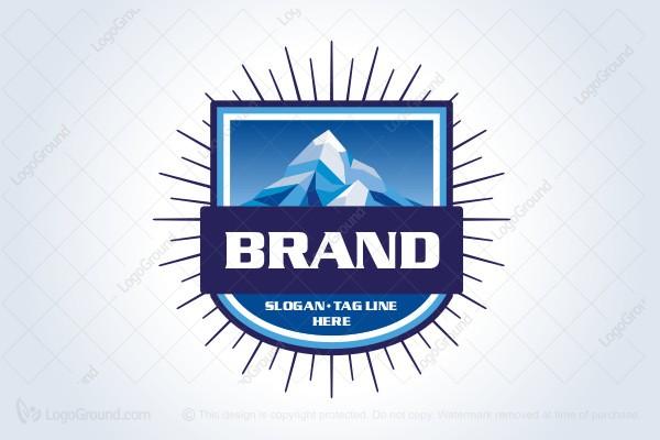Mountain River Valley Landscape Logo