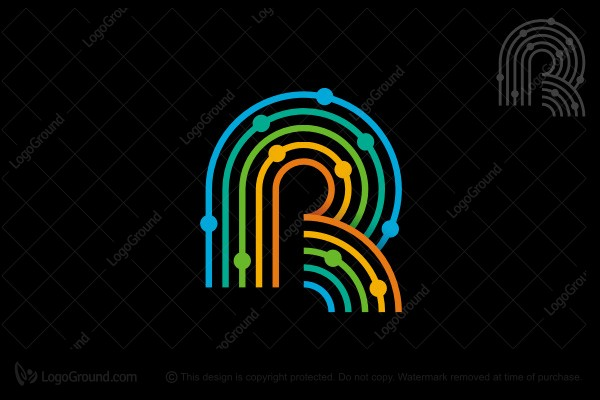 Colorful. R Logos for Sale