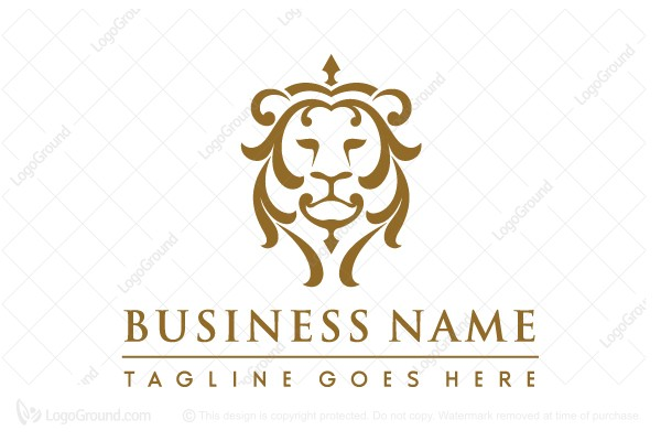 Logo for sale: Victorian Lion Head Logo