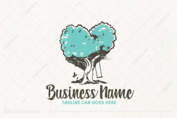 Logo for sale:  Whimsical Dreaming Tree Logo