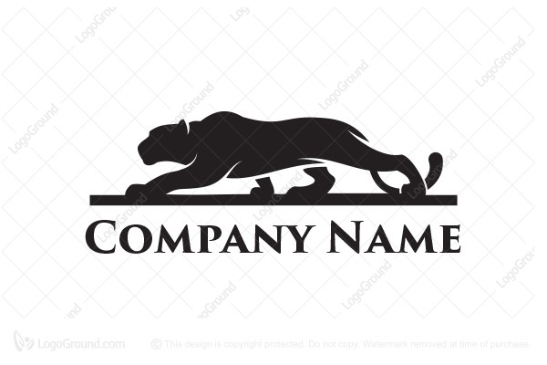 Logo for sale: Crouching Cat Logo