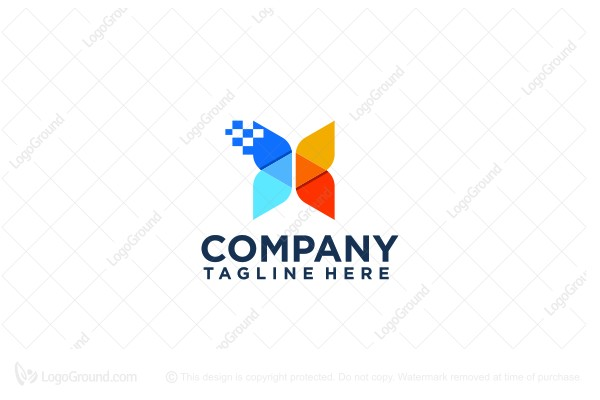 Logo for sale: Butterfly Data Logo