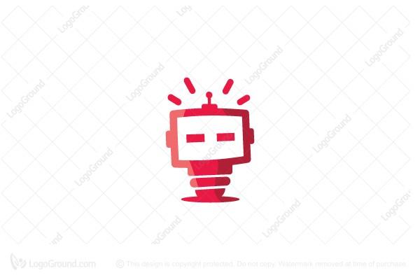 robot cute logo