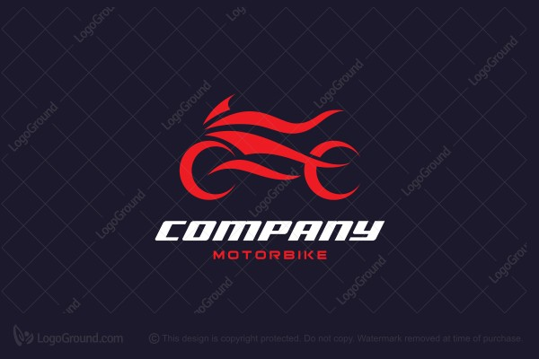 Logo for sale: Fire Motorbike Logo